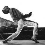 Freddie Mercury durante uno dei suoi ultimi concerti.