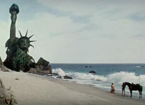 """La famosa ultima scena de """"Il Pianeta delle Scimmie"""" del 1968."""