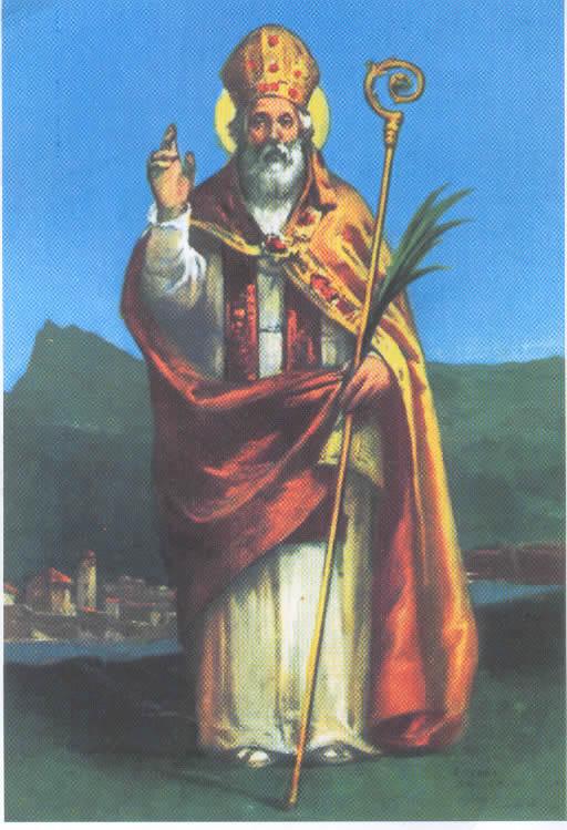 Il vescovo Valentino da Terni, dal 496 Santo Patrono degli innamorati.