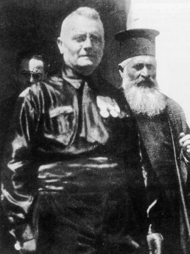 Il prefetto fascista Cesare Mori in Sicilia nel 1924.