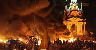 Kiev vista di notte nelle ultime 48 ore.
