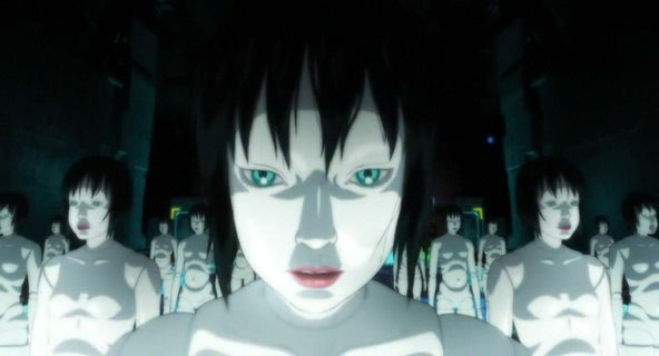 "Ginoidi (geishe prostitute robotizzate) nel film ""Ghost in the Shell: Innocence"""