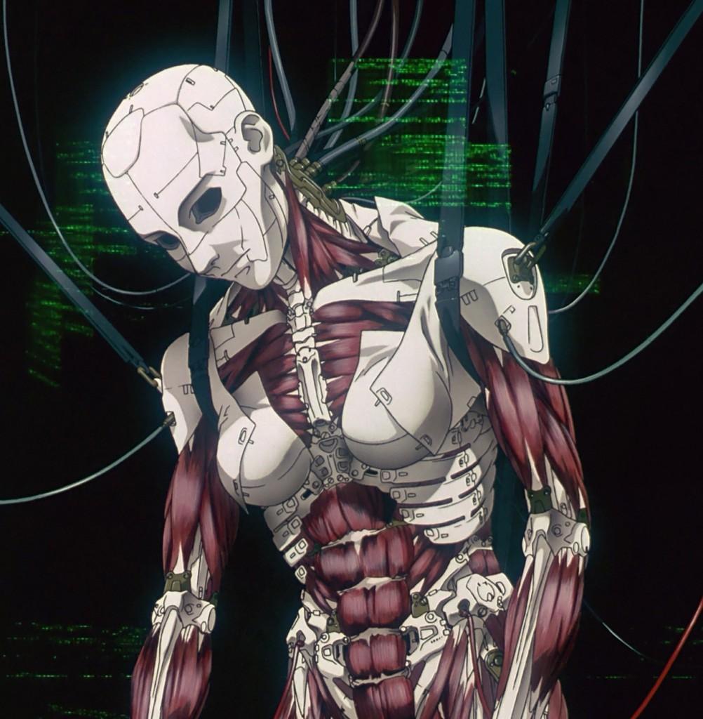 """Costruzione di un corpo umano robotizzato in """"Ghost in the Shell""""."""