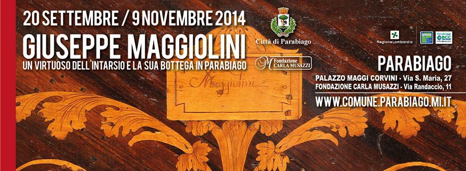 Locandina della mostra di Giuseppe Maggiolini a Parabiago.